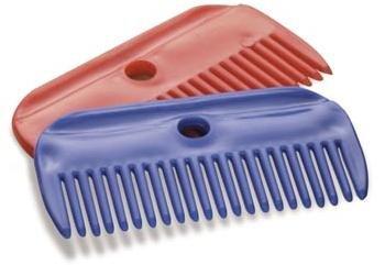 plastic mane comb - small - burgundy