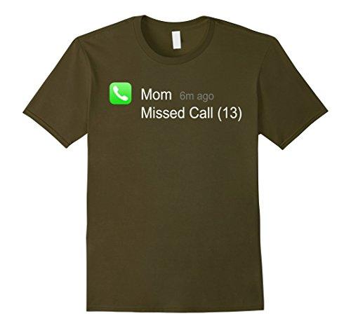 Last Minute Halloween Costumes Ideas Men (Mens Mom Missed Call Scary Last minute Halloween Costume Tee Idea XL Olive)