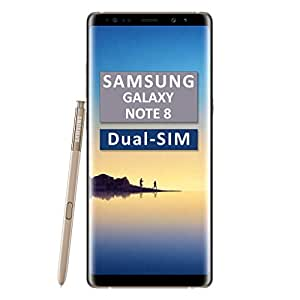 Samsung Galaxy Note 8 SM-N950F/DS Dual-SIM 64GB Factory Unlocked 4G/LTE Smartphone (Maple Gold) - International Version