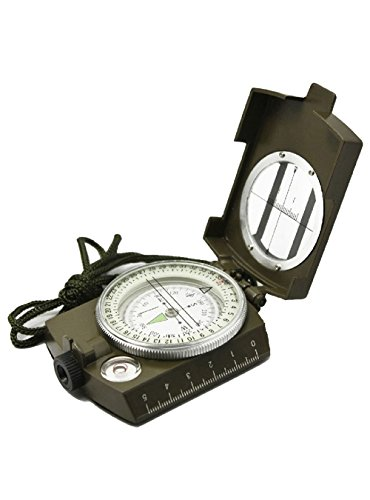 Snowmanna Noctilucent Type Army Outdoor Use Military Travel Geology Pocket Prismatic Compass with Pouch