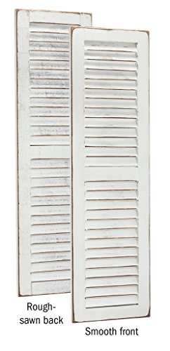 Shutter Pine - Furniture Barn USA Primitive Pine 3 Foot Tall Pair of Decorative Louver Shutters - multiple paint options