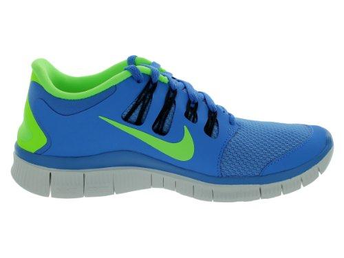 5b86ab584dfd Nike Free 5.0 Womens Blue Flash Lime Green Running Training Shoes ...