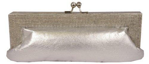 Carlo Fellini - Malena Evening Bag (31 0008) (Silver)