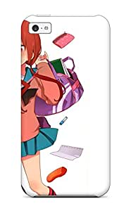 High Quality DanRobertse Brunettes School Uniformss Shortthigh Highs Open Mouth Meganekko Anime A-channel Bags White Tennouji Nagisa Ichii Tooru Skin Case Cover Specially Designed For Iphone - 5c