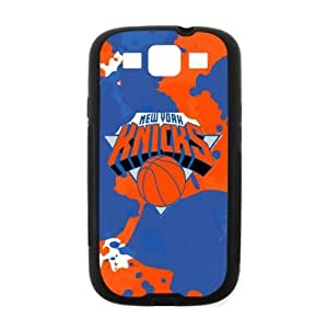 Fitted Samsung Galaxy SIII i9300 Case New York Knicks Logo Background (Laser Technology)-by Allthingsbasketball by ruishername