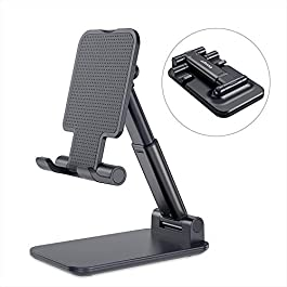 Adjustable Cell Phone Holder Essager Foldable Tablet Stand Mobile Phone Mount for Desk Compatible with All Smartphones