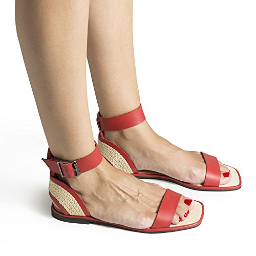 Howsty Dames Vega Strap Sandalen Rood (rood 18)