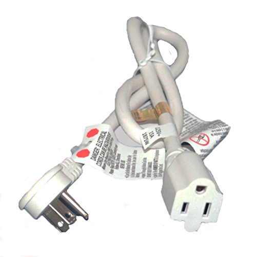 FIRMERST 6ft Low Profile Wall Outlet Flat Plug Extension Cord 14 AWG White (Profile Low Wall)