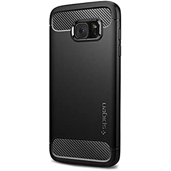 Spigen Rugged Armor Galaxy S7 Edge Case with Resilient Shock Absorption and Carbon Fiber Design for Samsung Galaxy S7 Edge 2016