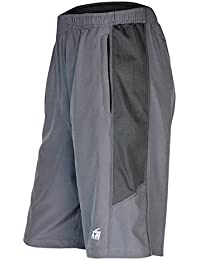 Mens Athletic Shorts with Zipper Pockets for Running, Basketball, Gym by X31 Sports