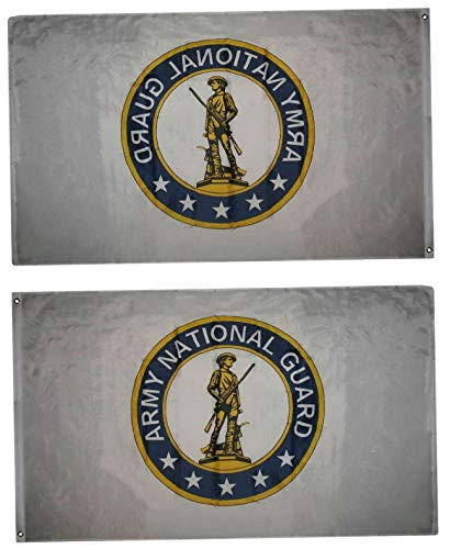 Mikash 3x5 Army National Guard Premium Flag 3x5 Banner Grommets Fade Resistant   Model FLG - 2969
