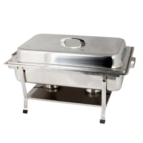 Chafer Plastic - Thunder Group Stainless Steel Full Size Weld Chafer With Plastic Footed