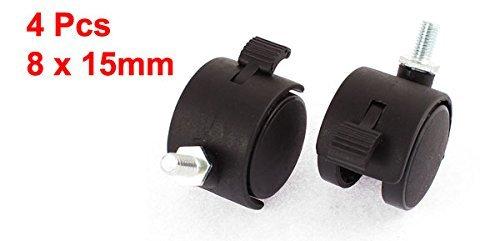 eDealMax 8mm rosca del vástago DE 1, 5 pulgadas de diámetro Freno Silla giratoria de las ruedas giratorias DE 4 PC: Amazon.com: Industrial & Scientific