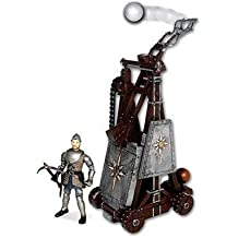 The Chronicles of Narnia Battle Catapult Trebuchet with Telmarine Soldier Battle Damage Figure - Real Launching Action by Narnia