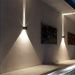 Wall Mounted Lamp,Wall Sconces,,Awakingdemi 12W LED Waterproof Garden Lights Corridor Wall Lamp Hotel Lights, Up and Down Design