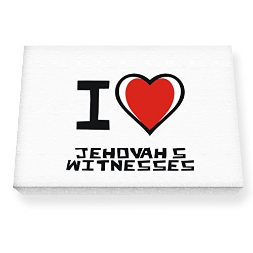 Teeburon I love Jehovah's Witnesses Canvas Wall Art
