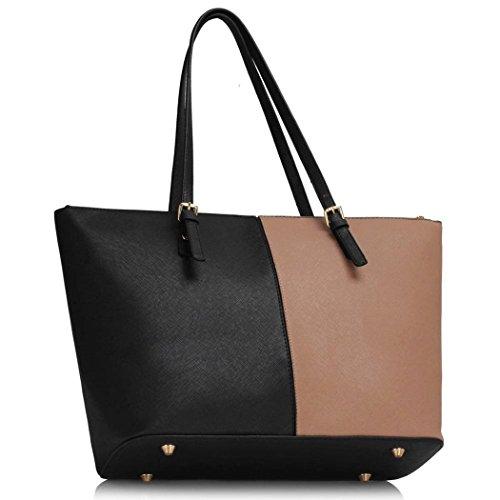 Faux LeahWard Black Shopper Leather Oversize Shoulder Quality For Bags CW30 Women Bag Nude School Handbags Bag Women's Holiday Shopper rrTXq