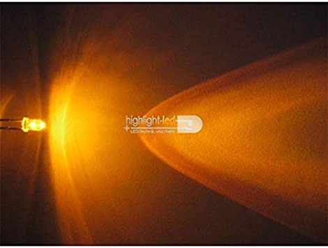 "Leuchtdioden yellow 50 3mm Leuchtdioden GELB Typ /""WTN-3-5000ge/"" gelbe LEDs"