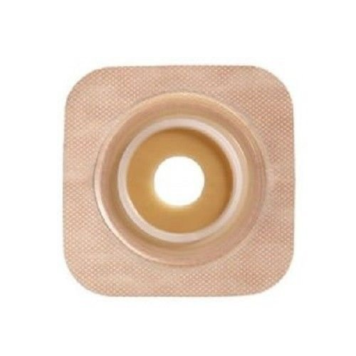 Convatec 125274 SUR-FIT Natura Two-Piece Pre-Cut, Stomahesive Flexible Skin Barrier with tape collar, Tan, 45mm (1 3/4'') flange; 35mm (1 3/8'') stoma opening, 10/BX by Convatec