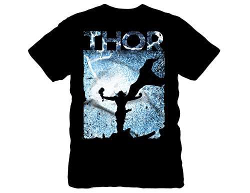 Marvel Men's Thor Lightning Silhouette Short Sleeve T-Shirt
