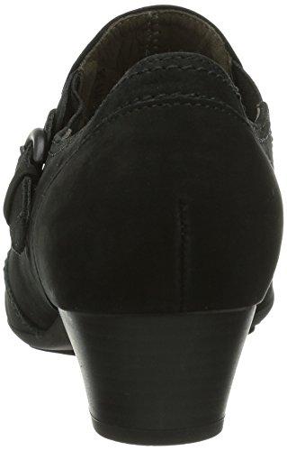 Gabor Shoes Gabor - Zapatillas de casa de cuero mujer Schwarz/ Schwarz