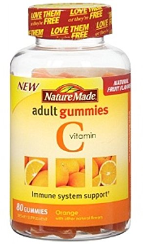 Nature Made Vitamin C Adult Gummies, Tangerine 80 ea (Pack of 4)