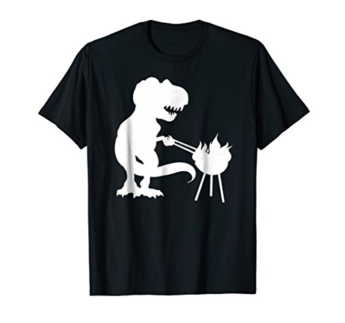 Mens T Rex Dinosaur BBQ Grill T Shirt Daddysaurus Father's Day (Best Veggie Dogs For Grilling)