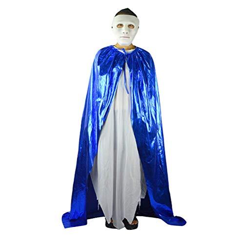 Bright Cloak with Hood - Full Length Elvish Robe Cosplay Costume Adult Zhhlinyuan