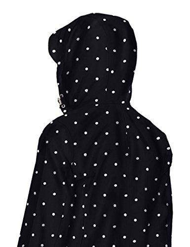Joules Women's Raina Floral Print Rain Jacket with Hood, Black Spot, 4 by Joules (Image #3)