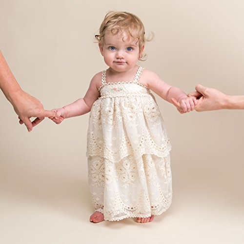 Clementine Baby Girl Vintage Dress and Bloomers Summer Dress by Baby Beau & Belle