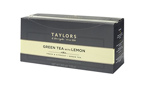 Taylors of Harrogate Green Tea with Lemon, 100 Count (Pack of 1) (Best Green Tea Brand Uk)