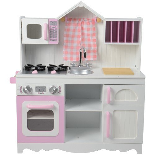 Constructive Playthings KDK-22 Lifestyle Wooden Play Kitchen, Grade: Kindergarten to 3, 35.75'' Height, 8.5'' Wide, 21'' Length