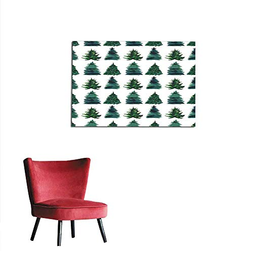Photographic Wallpaper Christmas Beautiful Abstract Graphic Artistic Wonderful Bright Holiday Winter Green Spruce Trees Pattern Watercolor Hand Illustration Perfect for Textile wallpapemural 48