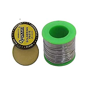Price Of Soldering Wire 60/40 Tin Lead Roll For Soldering + 15gm Flux By Electricalhomes.com.