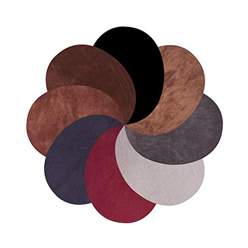 PH PandaHall 16pcs 8 Colors Oval Elbow Suede Fabric Appliques Cloth Iron On and Sew On Knee Patches for Sweatshirt Loose T Shirt Blouses Tops Accessories