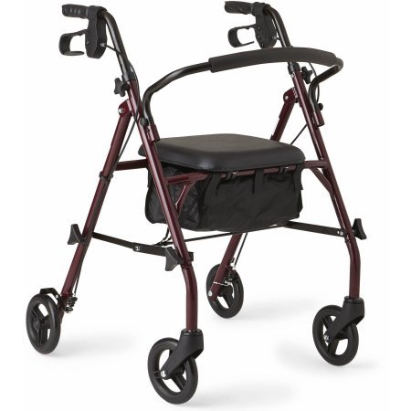 medline-steel-rollator-walker-burgundy-350-lbs-capacity