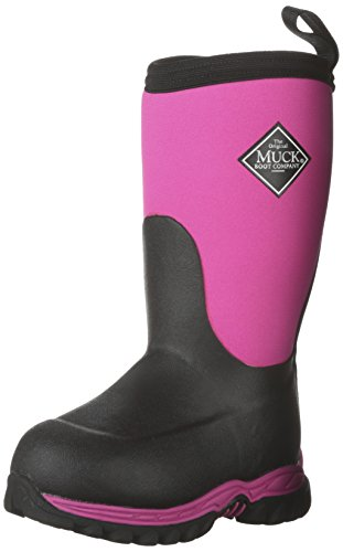 Muck Boots Children's Rugged II Performance Boot,Pink/Black, 8 M US Toddler