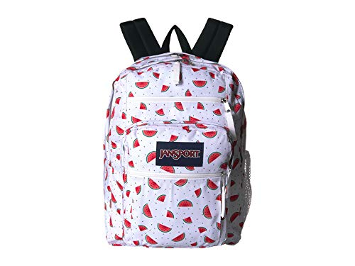 - JanSport Big Student Backpack - Watermelon Rain - Oversized