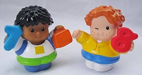 Fisher Price Little People Time To Learn Preschool Replacement Figures, Make Fun Cake Toppers, #7 Roberto & #8 Red Head
