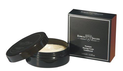 Edwin Jagger 99.9% Natural Premium Shaving Cream, 100ml Tub - Sandalwood, 3.4-Ounce (Tub Shave Cream)