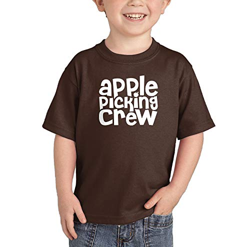 Apple Picking Crew - Orchard Autumn Infant/Toddler Cotton Jersey T-Shirt (Brown, 5T) ()