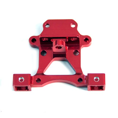 Traxxas Summit 1:16 Aluminum Alloy Body Post Mount Base Hop Up Upgrade, Red by Atomik RC - Replaces Traxxas Part 7015