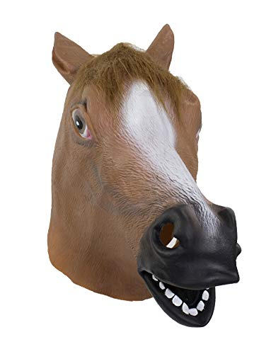 stylesilove Halloween Cosplay Dress Up Funny Animal Cartoon Head Latex Mask (Brown -