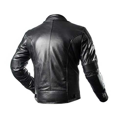 Amazon.com: SHIMA HUNTER, Slim Back Medium Protector Summer Vintage Retro Mens Leather Protective Motorcycle Jacket with Armor and Inside Pocket (S-XXL) (M, ...