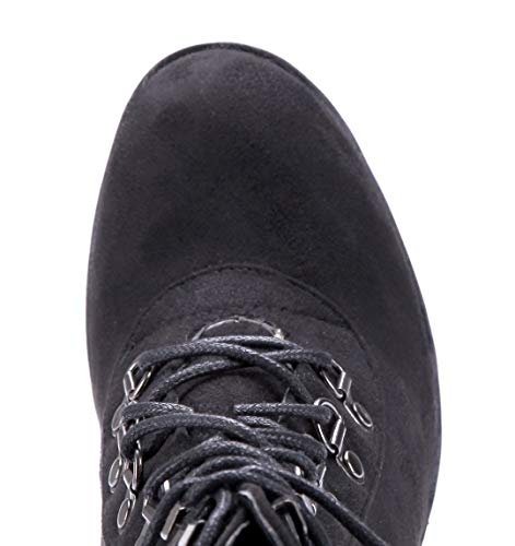Stiefeletten Schuhtempel24 8 cm Damen Boots Blockabsatz Schuhe Schwarz Souhey Klassische Schnalle Stiefel 67Uqnt7w