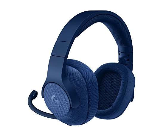 Logitech G433 7.1 Surround Gaming Headset, DTS Headphone:X 3D Positional Audio, 40 mm Pro-G Audio Drivers, Lightweight, Strong, USB and 3.5 mm Audio Jack, PC/Mac/Nintendo Switch/PS4/Xbox One - Blue