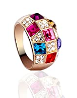 SONGQIAN Womens Austria Color Crystal Engagement Ring