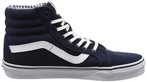 true White Reissue Bleu Gingham dress Adulte Sk8 Mixte hi Vans Blues amp; twill Hautes Sneakers 6pSOFqW