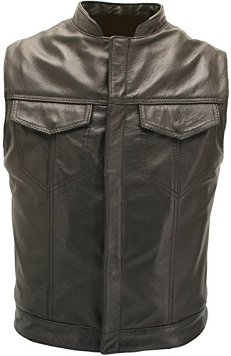 Sons of the Anarchy Leather Vest - Made in USA (52 Long / Tall)