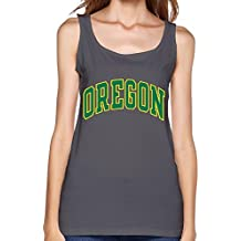LLangla Women's University Of Oregon Tank Top L DeepHeather